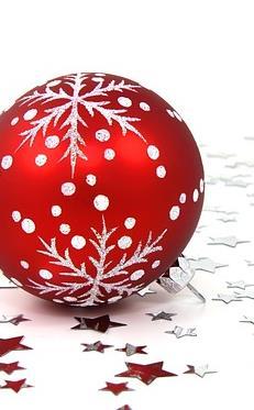 Rote Weihnachtsbaumkugel - in den Farben der Kanzlei H&S Hanseatic Legal